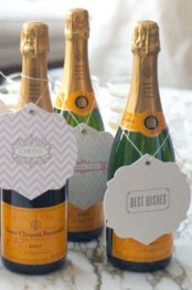 Cute Champagne Gift Tags